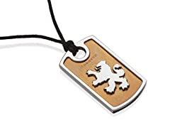 Lion Rampant Two-Tone Pendant