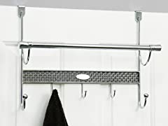 Vanderbilt Chrome Over the Door Towel Bar
