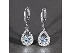Teardrop Crystal Leverback Earrings