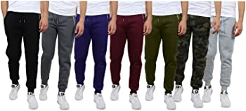 3-Pack Galaxy by Harvic Men's Assorted Joggers