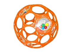 Oball 4-inch Rattle (Colors May Vary)