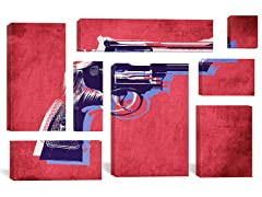 Revolver on Red by Michael Tompsett