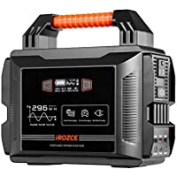 iRozce 300W Portable Power Station, 296Wh Solar Generators