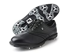 Superlites Inlay Saddle Golf Shoe - Black