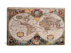 World Map by Henricus Hondius 26x18
