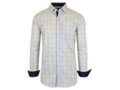 GBH Men's L/S Stretch Plaid Dress Shirts