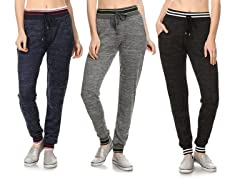 Women's Jogger Pants with Pockets (3-Pack)