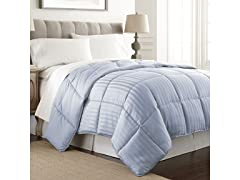 EMBOSSED DOBBY STRIPE DOWN COMFORTER