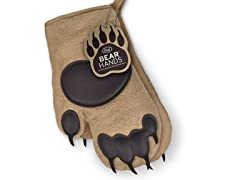 Bear Hands Oven Mitts Set - Brown