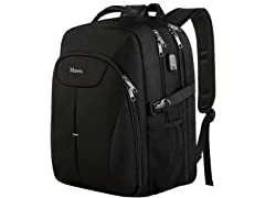 Matein Large Laptop Backpack, Black