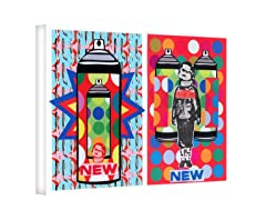 History of Graffiti by Ryan Seslow - Wrapped Canvas