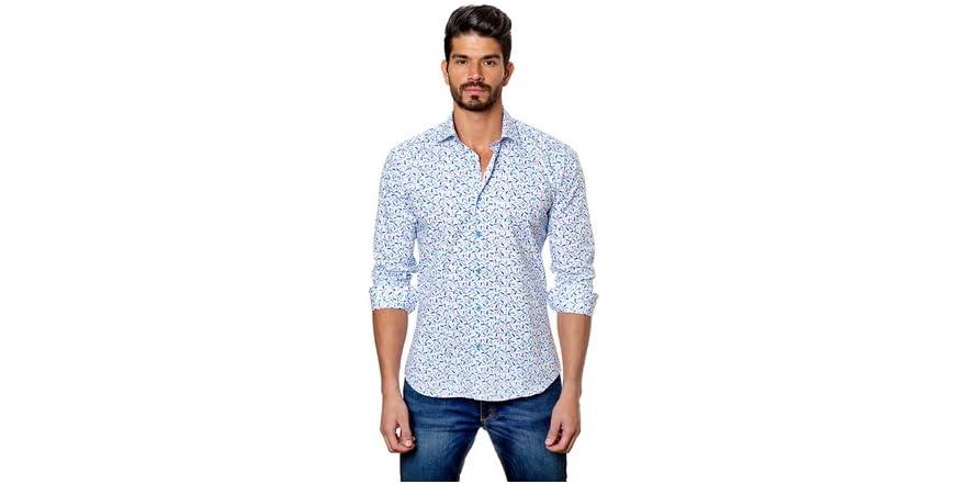 Jared Lang Men 39 S Dress Shirt White Fish Fashion