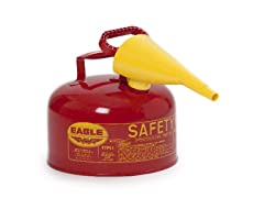 2.5 Gallon Metal Flammables Safety Can, Red