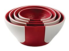 SleekStor Pinch & Pour Prep Bowls-Cherry