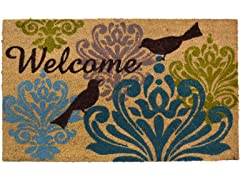 Fiesta Bird Damask Doormat