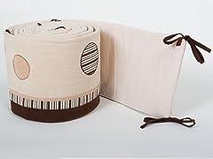 Cappuccino Crib Bumper
