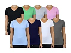Women's 5-Pack Assorted V-Neck Tee