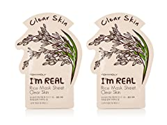 I'm Real Rice Mask Sheet - Clear Skin - Twin Pack
