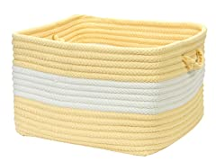 Banded Storage Basket Rectangle - Yellow (2 Sizes)
