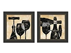 Wine Selection 2PC Set Framed 23x23
