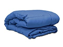 Embossed Microfiber Comforter Navy - 3 Sizes