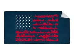 """Sea to Shining Sea"" Beach Towel"