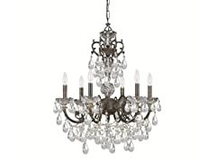 6-Light Chandelier, English Bronze
