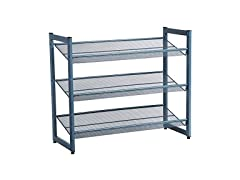 SONGMICS Metal Mesh Shoe Rack Storage
