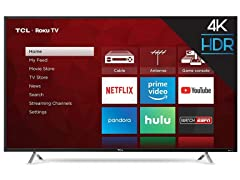 "TCL 55"" 4K Ultra HD Roku Smart LED TV"