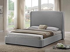 Sheila Gray Linen Modern Bed