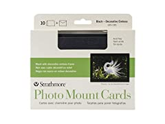 Strathmore Photo Mount Cards Black