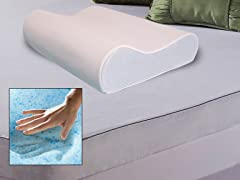 Gel Memory Foam Pillow w/Vented Cover