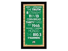 "Boston Celtics 9.5"" x 19"" Sign"