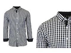 Men's L/S Gingham & Plaid Dress Shirts