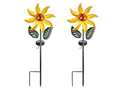 Touch Of Eco Solar Sun Spin, Yellow: 1 or 2 Pack
