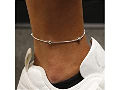 Sterling Silver Box and 4m Bead Anklet