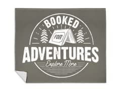 """Booked for Adventures"" Blanket"