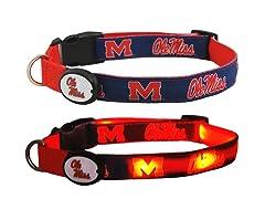 University of Mississippi LED Collar - M