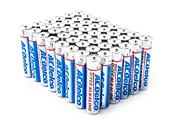 AAA Alkaline Batteries - 48 Pack