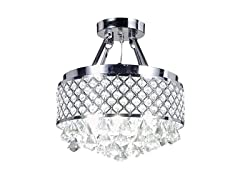 Round Crystal Chandelier Ceiling Fixture