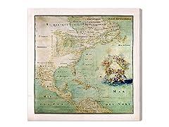 Amerique Septentrionale Map (4 Sizes)