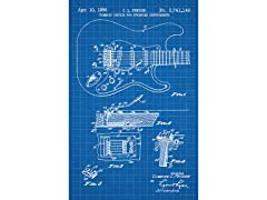 Fender Stratocaster Guitar Screen Print