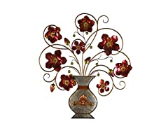 Flower in Vase Metal Wall Décor
