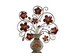 Flower in Vase Metal Wall Décor