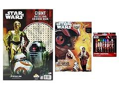 3-Piece Disney Star Wars Coloring & Activity Set