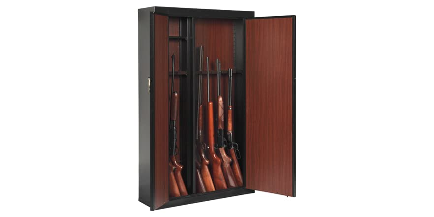 16 Gun Metal Cabinet With Storage