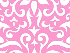 Wallpaper - Pink Damask