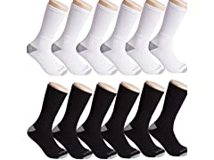 Mens U.S. Army Tri-Blend Crew,Quarter or No-Show Socks 6P