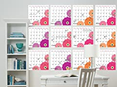 Zinnia 12-Piece Calendar Set