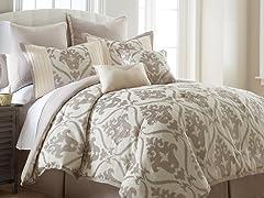 Sophia 8pc Jacquard Comforter Set